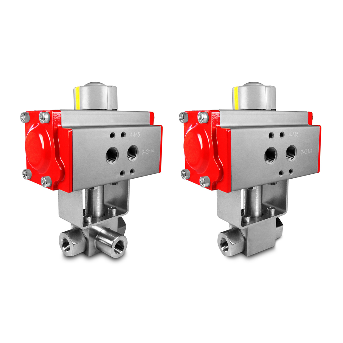 Valves with pneumatic actuator