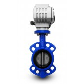 Butterfly valve DN100 with electric actuator A1600