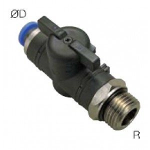 Shut-off ball valve thread 1/4 inch hose 6mm BC06-G02