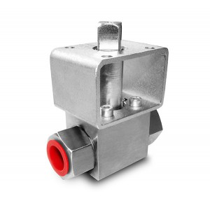 High pressure ball valve 1/4 inch SS304 HB22 mounting plate ISO5211