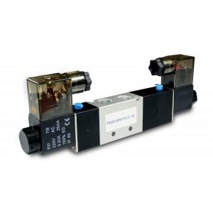 Solenoid valve 5/3 4V430C 1/2 inch for pnaumatic actuators 230V or 12V, 24V