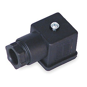 Plug to solenoid valve 18mm DIN 43650