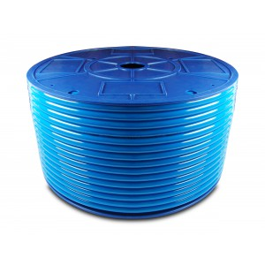 Polyurethane pneumatic hose PU 6/4 mm 200m blue