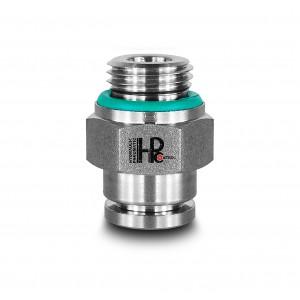 Plug nipple straight stainless steel hose 10mm thread 1/4 inch PCS10-G02
