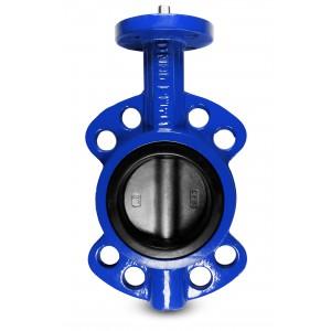 Butterfly valve throttle DN150 - stainless steel