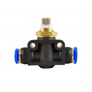 Precision flow regulator choke valve hose 8mm LSA08