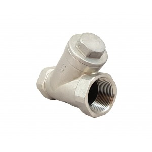 Check valve Y type DN25 1 inch - stainless steel SS316