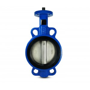 Butterfly valve, throttle DN50 - nickel plated disk