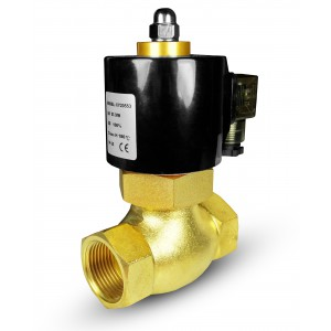 Solenoid valve for steam and high temp. 2L40 DN40 180°C 1 1/2 inch