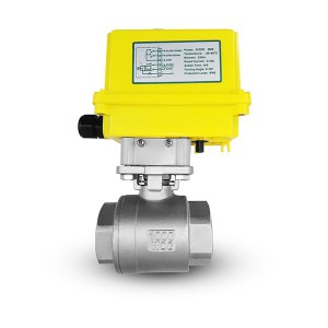 Stainless steel ball valve 1 1/4 inch DN32 with electric actuator A250