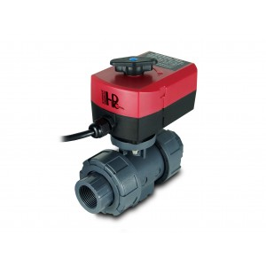 Ball valve 1 inch UPVC with electric actuator A80 or A82