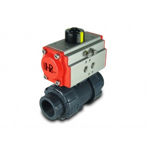 Ball valve UPVC 1/2 inch DN15 with pneumatic actuator AT32
