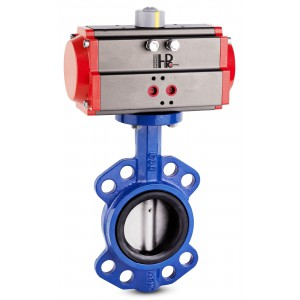 Butterfly valve, throttle DN40 with pneumatic actuator AT63
