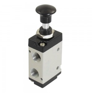 Manual valve pressed 5/2 4L210 1/4 inch for actuators