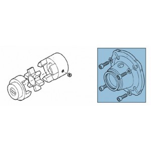 Clutch + adapter for pump kit RO