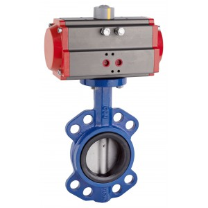 Butterfly valve, throttle DN80 with pneumatic actuator AT75