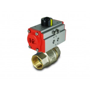 Brass ball valve 1 1/2 inch DN40 with pneumatic actuator AT52