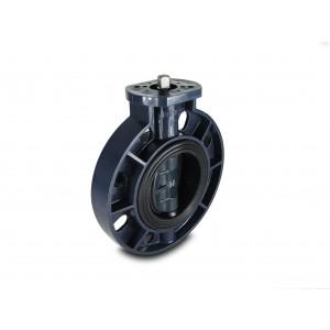 Butterfly valve, throttle UPVC DN50