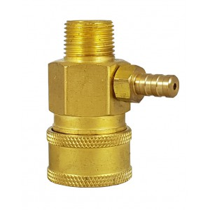 High-pressure quick conector 3/8 inch with chemistry suction injector